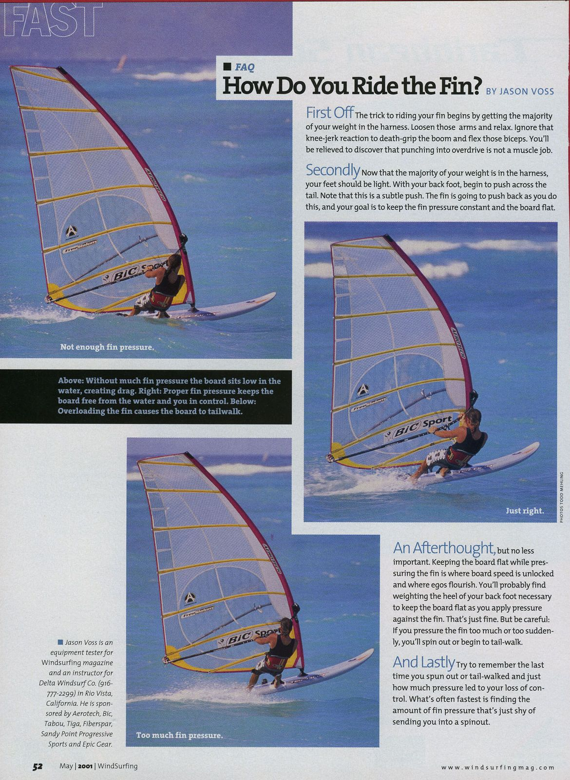 J R V Windsurfing Instruction/Instructional Articles